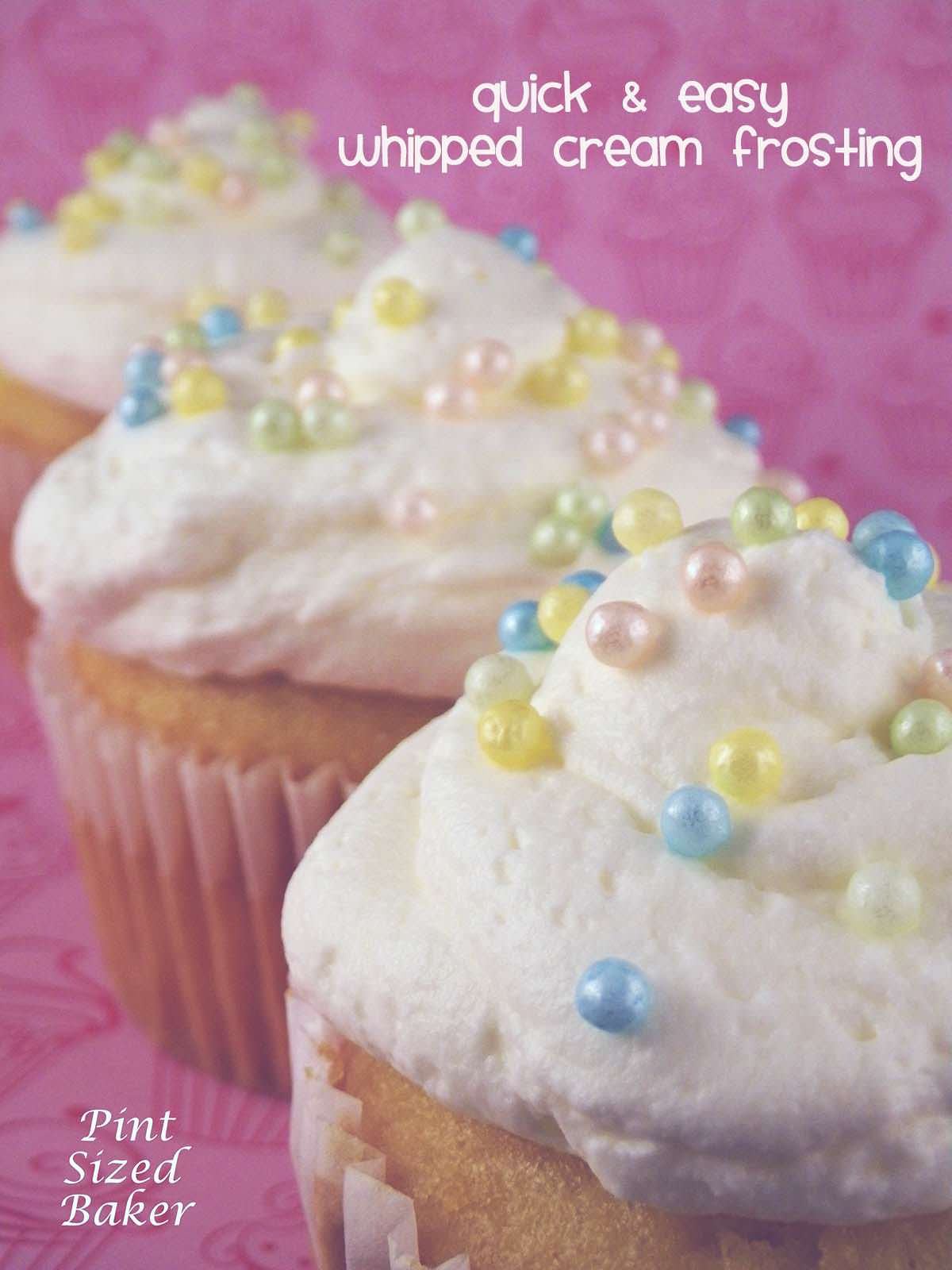 Light and fluffy and so yummy! This whipped cream frosting is perfect for your summer treats!
