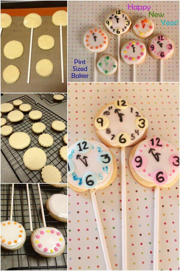 Count Down to New Years Eve with these fun Clock Sugar Cookies.
