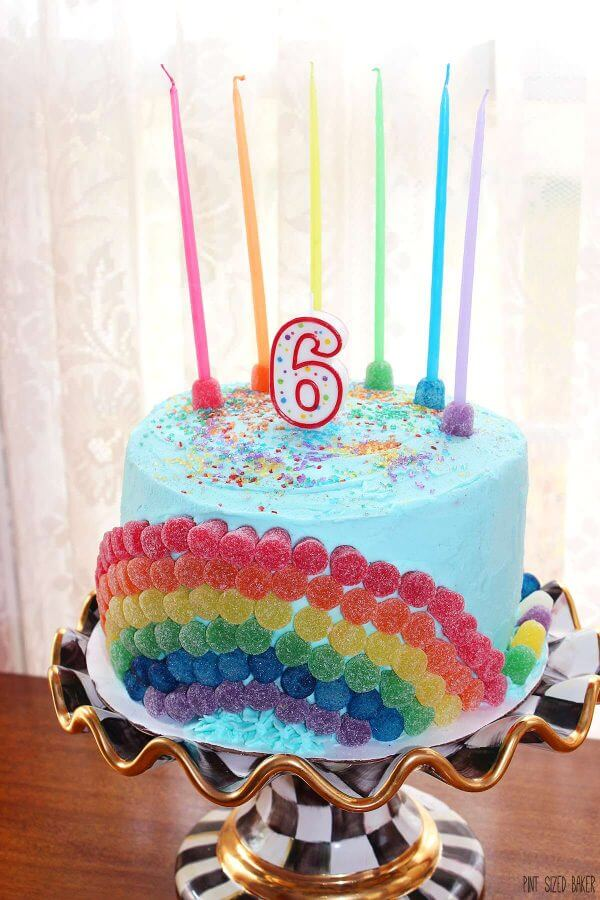 Tremendous Rainbow Birthday Cake Pint Sized Baker Funny Birthday Cards Online Elaedamsfinfo