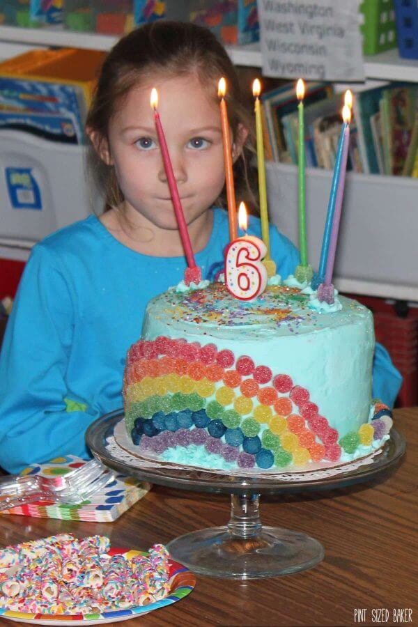 Remarkable Rainbow Birthday Cake Pint Sized Baker Birthday Cards Printable Benkemecafe Filternl