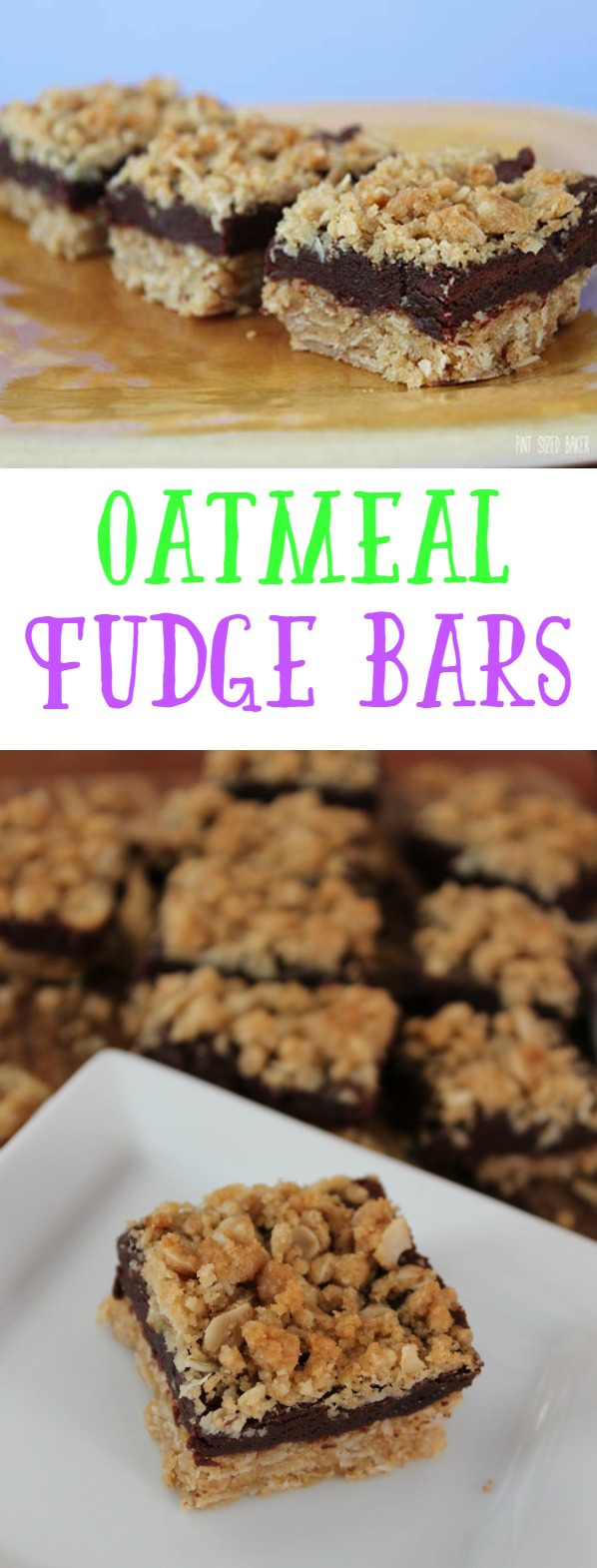 Oatmeal Fudge Bars that are sure to put a smile on everyone's face! We love them!