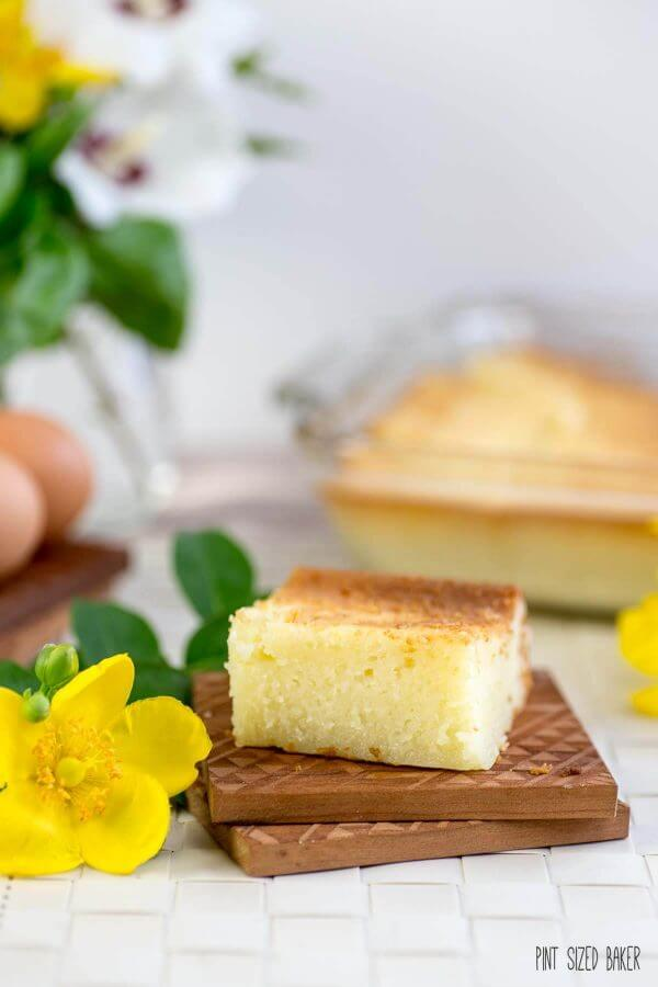 Butter Mochi Recipe. Only the best snack to bring after a soccer game or swim meet.