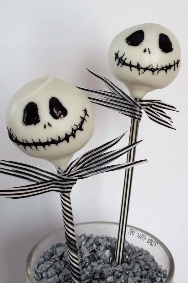 Jack Skellington Cake Pop Tutorial Pint Sized Baker