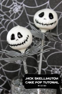 Jack Skellington Cake Pop Tutorial