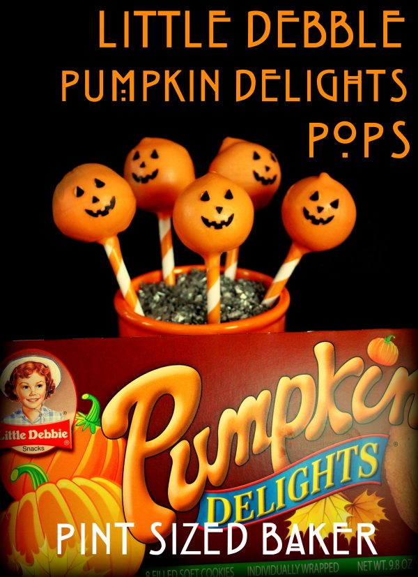 No need to bake a cake for these pops, just pick up a box of Little Debbie Pumpkin Pie Delights and make some Cake Pops with them!