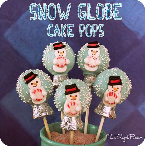 These Snow Globe Cake Pops are so cute and are fun to make! I hope you enjoy making these and I know you'll love 'em!