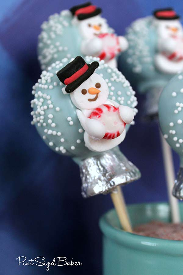 Learn how to make these easy Snow Globe Cake Pops! The kids love them!