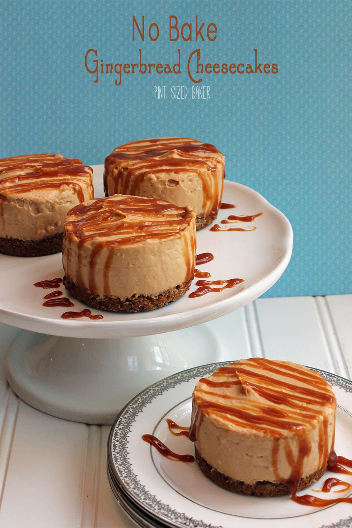 This Gingerbread Pudding Cheesecake with Caramel Sauce and Biscoff Cookie Crust is so delicious and a great treat for everyone!