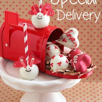 Valentine Love Bug Delivery of Cake Pops