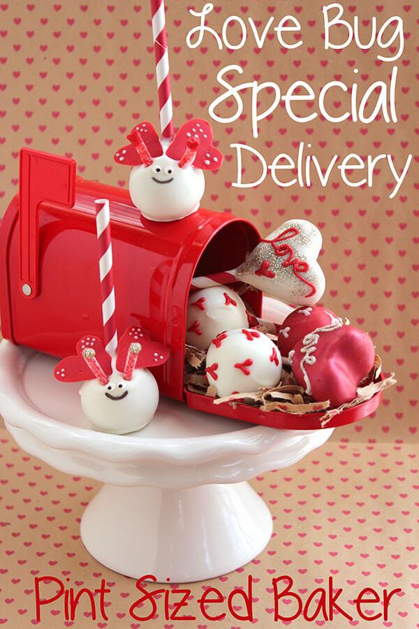 Valentine Love Bug Delivery of Cake Pops