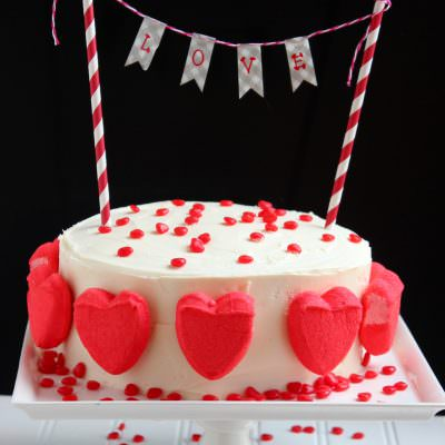 Simple, yet Pretty Valentine's Cake