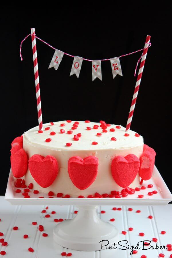 "This simple yet stunning Valentine's Cake is perfect for any day of the year that you want to tell someone ""I love you""!"