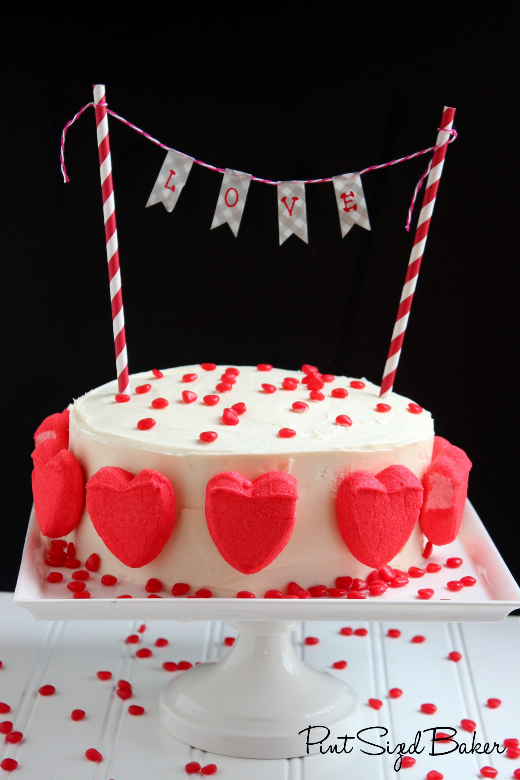 This simple yet stunning Valentine's Cake is perfect for any day of the year that you want to tell someone