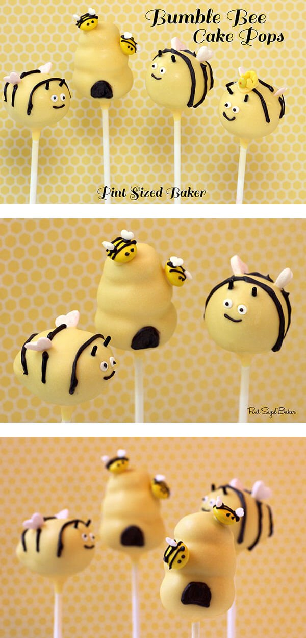 Adorable little bumble bee cake pops are easy to make. Just follow this tutorial.