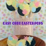 Grab your kids, some Spring Oreo Cookies and Easter decorations to make these fun and easy Easter Oreo Pops!