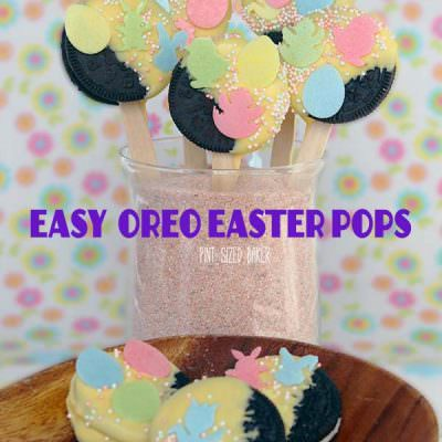Easy Oreo Easter Pops