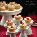 Almond Marzipan Macaroon Mini Pies. Simple treats that make a big impression.