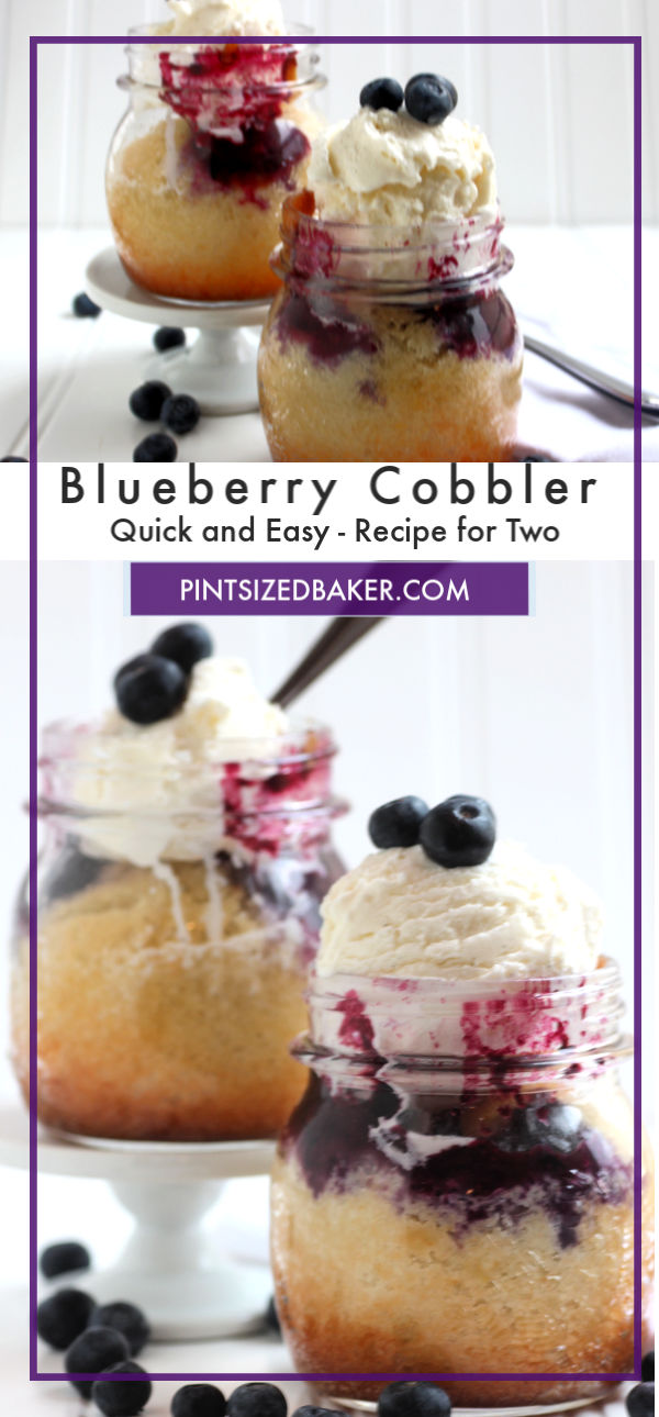 This easy blueberry cobbler recipe is the perfect amount for just two people.