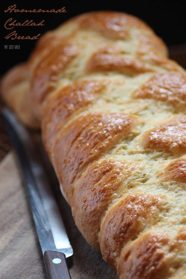 This homemade Challah recipe makes enough for 4 loaves. Enjoy a loaf in your Baked French Toast.