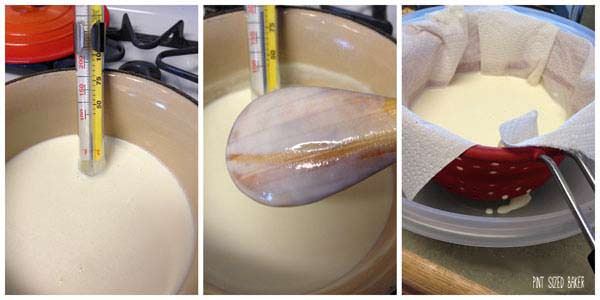 Making homemade mascarpone cheese is easy!
