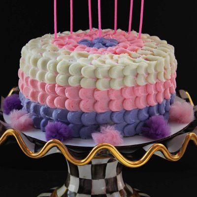 Girls Petal Birthday Cake – Happy Birthday Little Cup