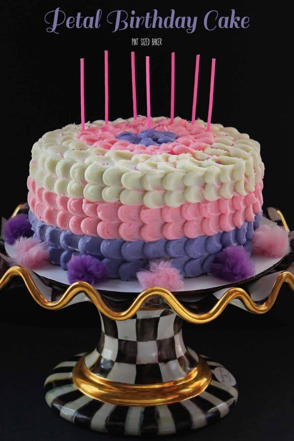 This Petal Birthday Cake Is The Cutest EVER Pink Purple And White