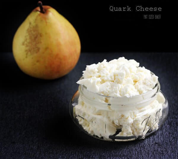 Thick and creamy quark cheese is easy to make and only has two ingredients.