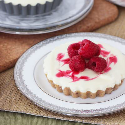 White Chocolate Raspberry Tarts