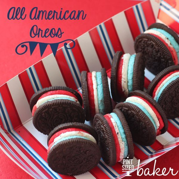 This summer, dig into some All American Oreo Cookies with these Red, White, and Blue Oreos.