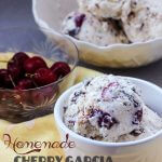 Enjoy your own Homemade Cherry Garcia Ice Cream loaded with fresh sweet cherries and chocolate chunks!