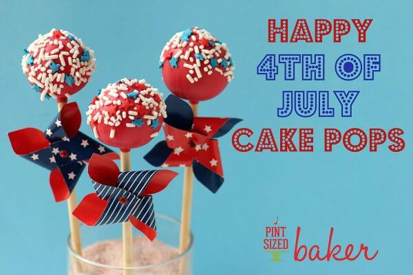 Decorate for your summer party with these fun and festive 4th of July Cake Pops! They have a surprise inside!