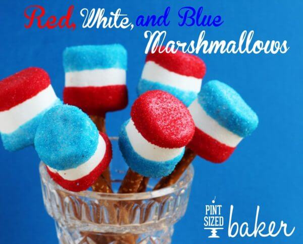 Red White and Blue Giant Marshmallows
