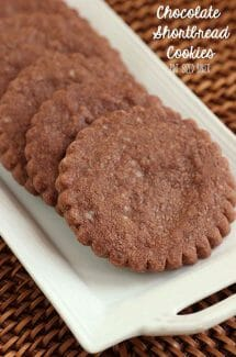 Homemade Chocolate Shortbread cookies. Easy and delicious!