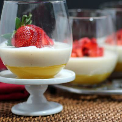 Mango and Yogurt Gelees