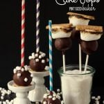 What a fun alternative way to enjoy your S'mores!! S'mores Cake Pops! #cakepops #pintsizedbaker