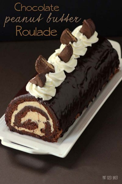 Chocolate Cake Roll Recipe with Peanut Butter