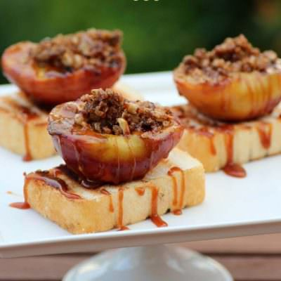 Grilled Peaches on Pound Cake