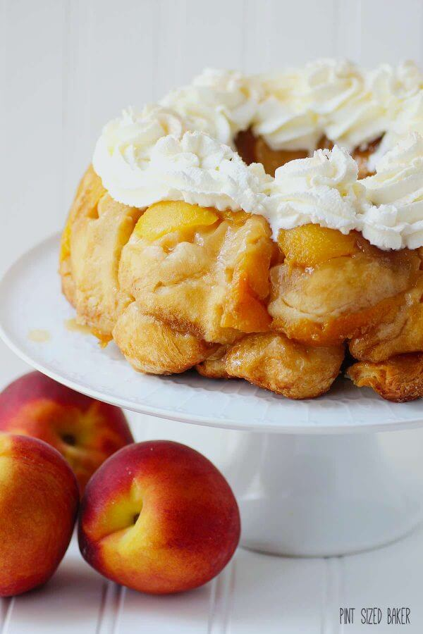 Peaches and Cream Monkey bread. It's what's for breakfast!