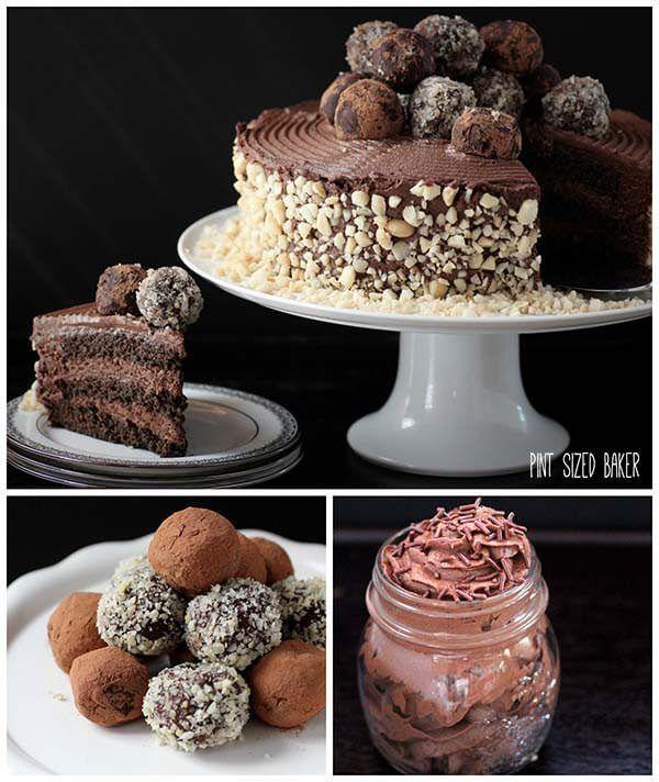 Three amazing chocolate recipes for one amazing chocolate dessert.