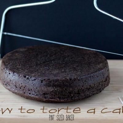Torting a Chocolate Cake
