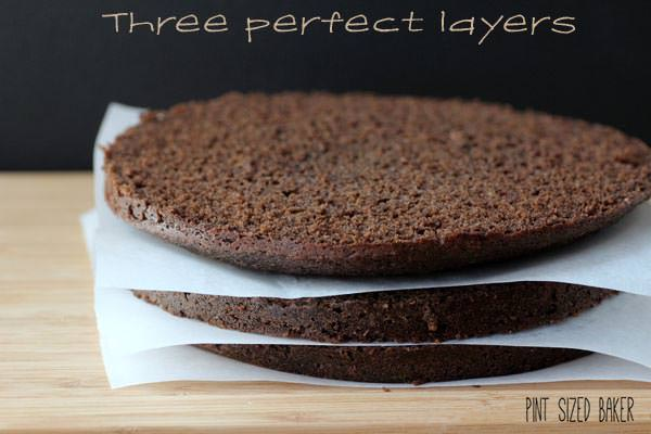 One cake, three equally sliced cakes. This technique works every time.