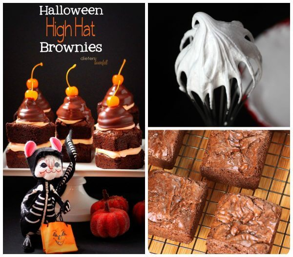 Learn how to make these High Hat Brownies with homemade brownie squares and marshmallow fluff.