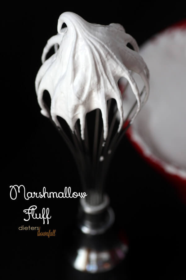 This Homemade Marshmallow Fluff was so delicious. Don't be scared to give it a try. from #dietersdownfall.com