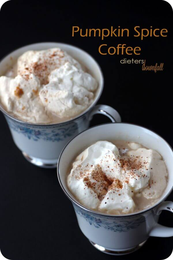 Pumpkin Spice Coffee made with real pumpkin, cinnamon, nutmeg and ginger.