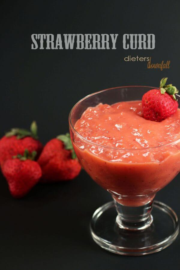 Sweet Strawberry Curd is a great addition to your dessert.