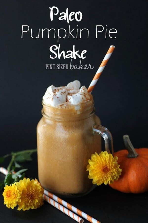 Craving pumpkin pie but don't want all the sugar and carbs? Try this Pumpkin Pie Paleo Shake that is packed full pumpkin power!