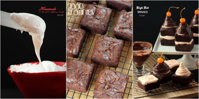 Homemade Marshmallow Fluff, Good Brownies, and finally High Hat Brownies.