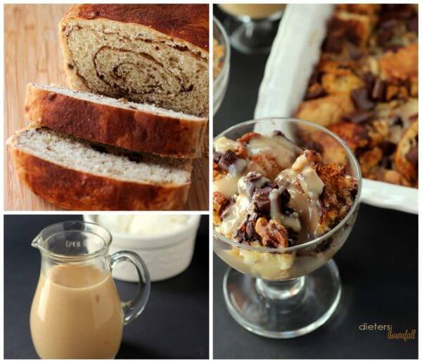 1 Chocolate Bread Pudding Collage