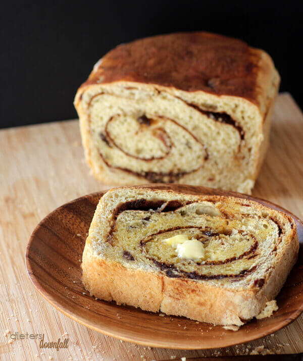 Warm, toasted Cinnamon Bread served with real butter. The best breakfast or snack or lunch!