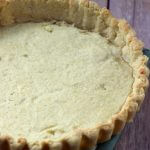 An amazing egg based crust is more like a cookie crust.
